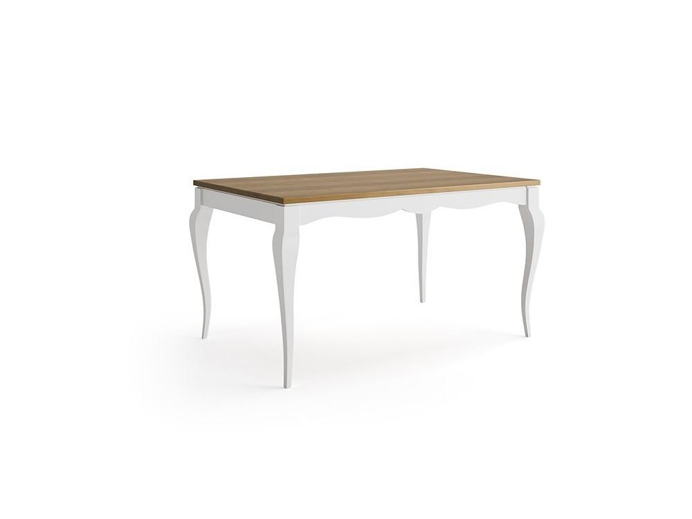 Mesa extensible de comedor de diseño clásico Mediterráneo