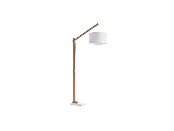 Lámpara de pie de madera y base de metal Izar