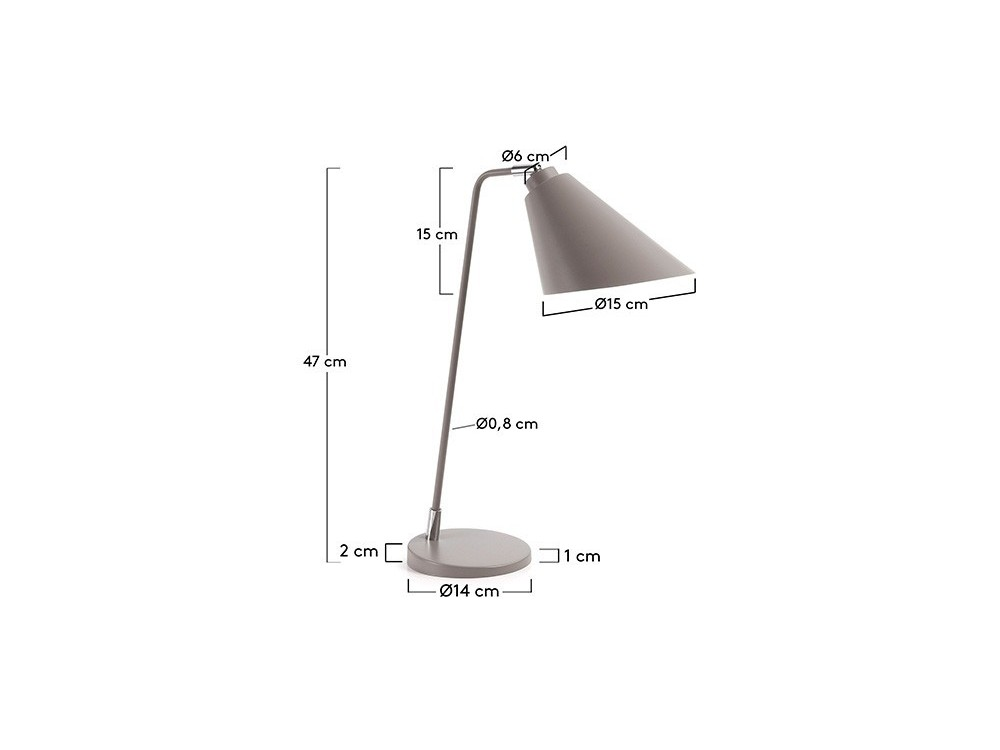 Lámpara de sobremesa de metal Priti