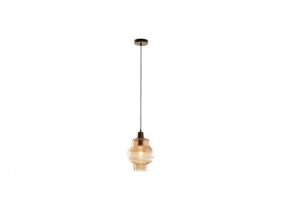 Lámpara de techo con pantalla de cristal ámbar Clemen