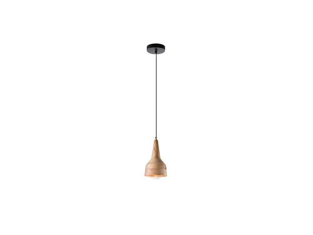 Lámpara de techo artesanal de con pantalla de madera en dos medidas Aller
