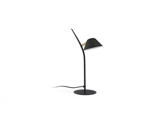 Lámpara de sobremesa de metal en negro o blanco con pantalla articulada Mysti