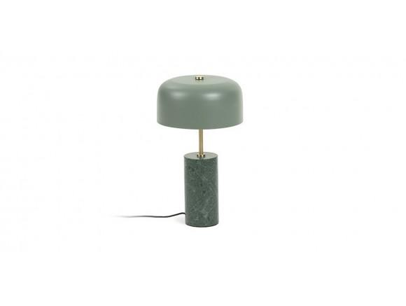 Lámpara de sobremesa de metal y mármol verde Biscane