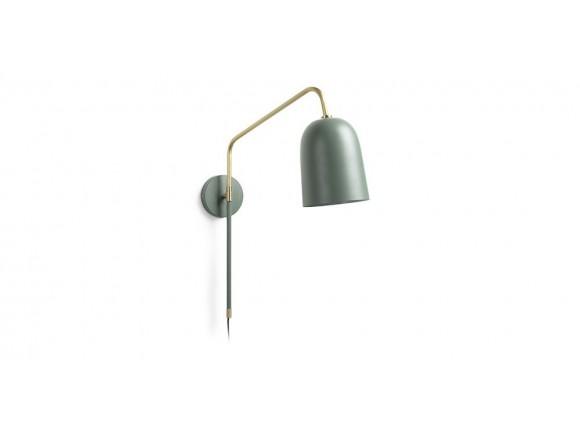 Aplique de metal verde y latón Bjerne