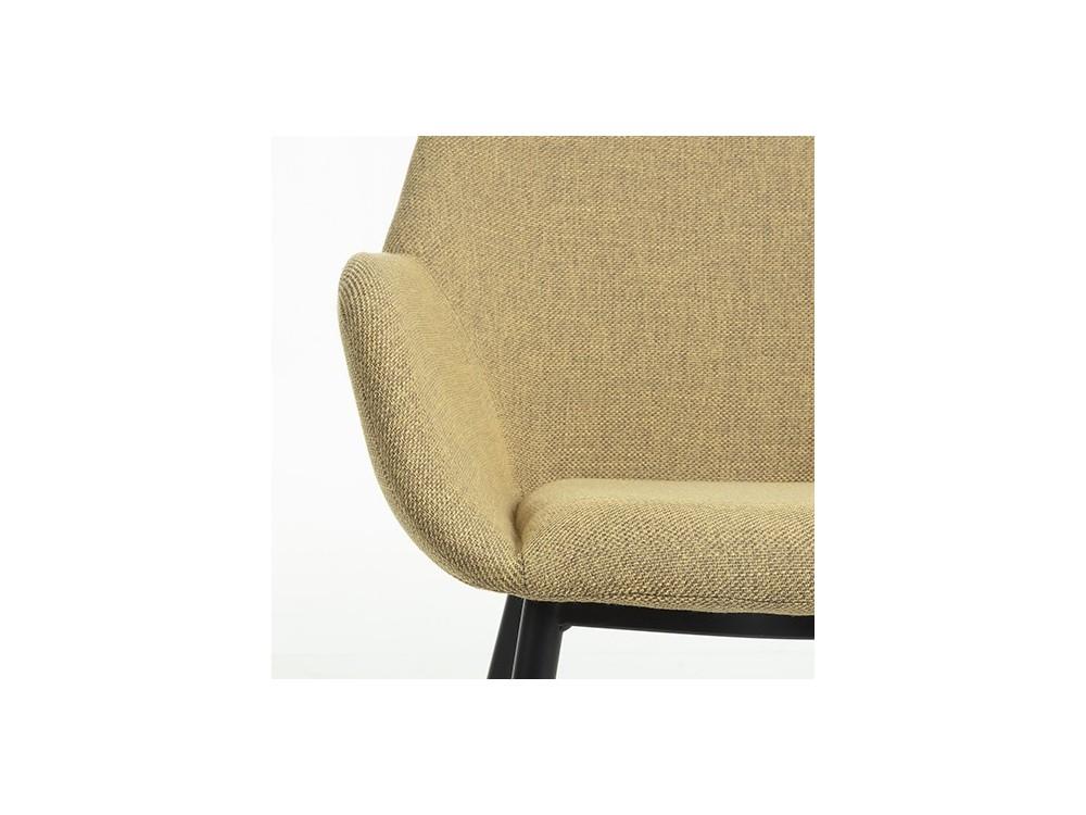 Silla con brazos Koon tapizada en tela