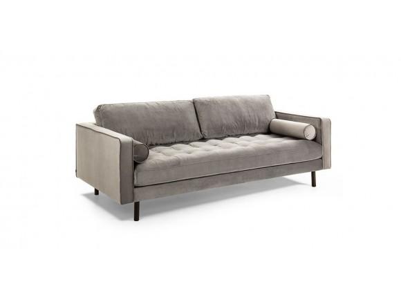 Sofá de dos plazas Bogart tapizado en terciopelo