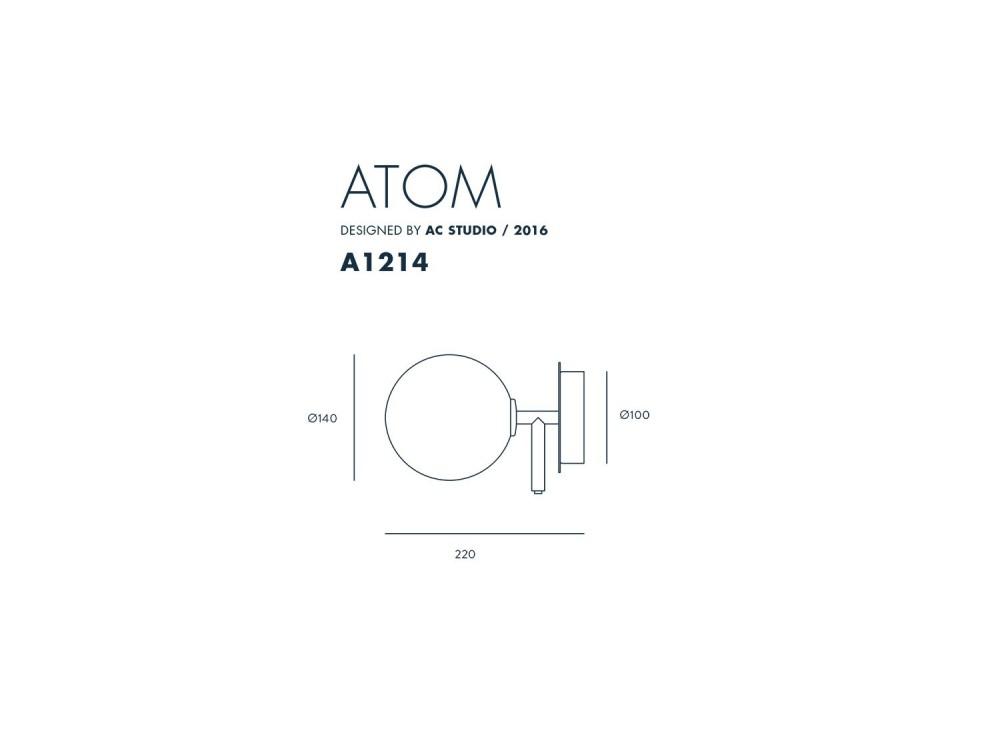 Aplique con pantalla balón Atom