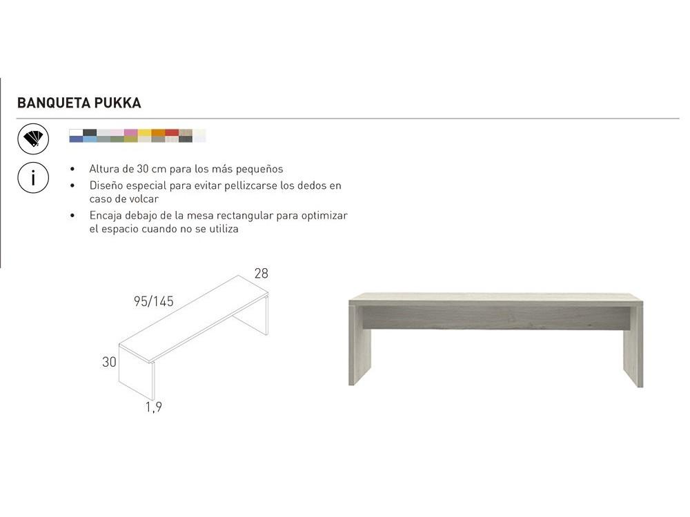 Mesa alargada y banquetas Pukka Infinity 02