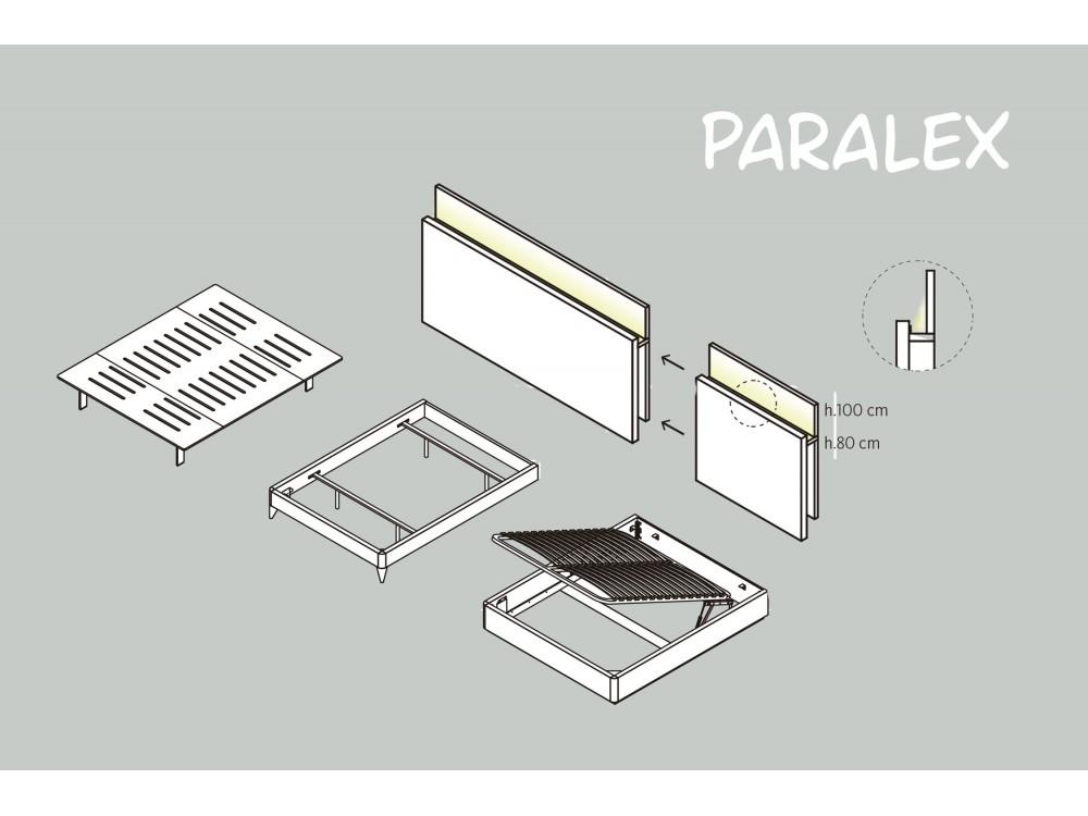 Cama con cabezal Paralex con estante