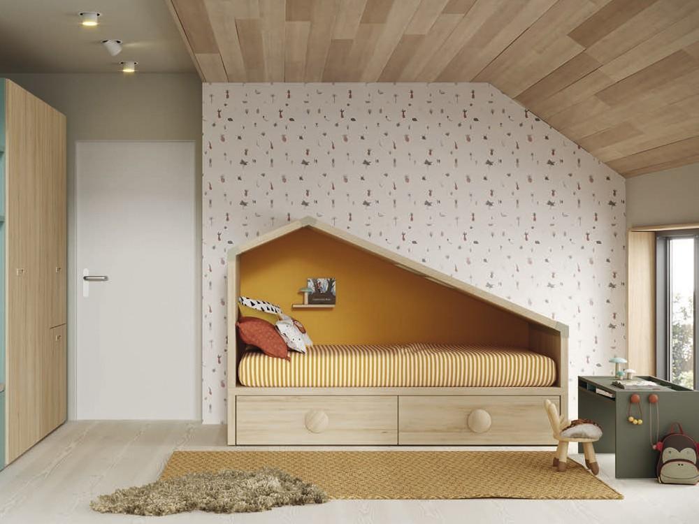 Mesa infantil Pupitre con tapa abatible y plumier