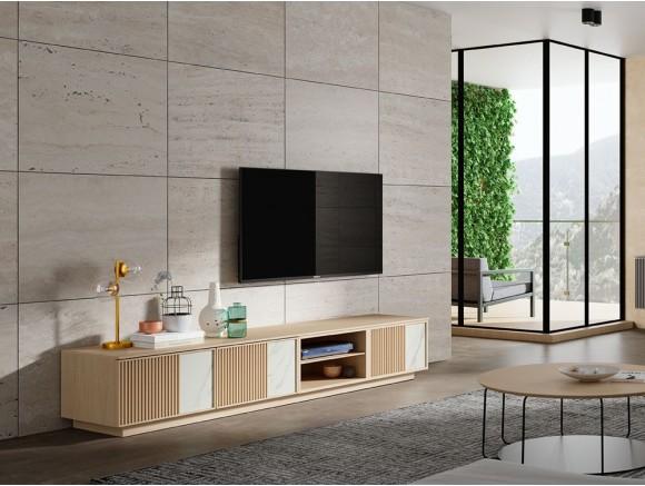 Mueble para TV de madera y acabado artesanal Jazz
