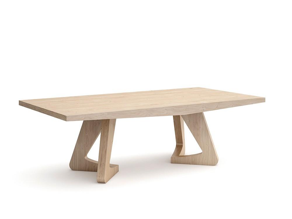 Mesa de comedor de madera de nogal LSD