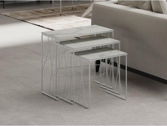 Conjunto de mesas auxiliares Nest