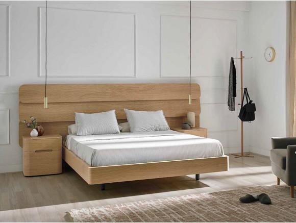 Dormitorio con cabecero de madera Dodo Mobenia - 1