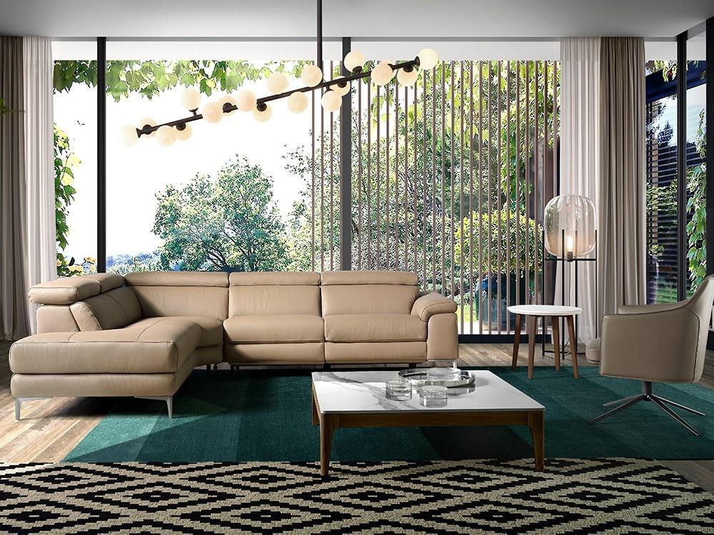 Sofá Rinconera relax tapizado en piel 6043/6042