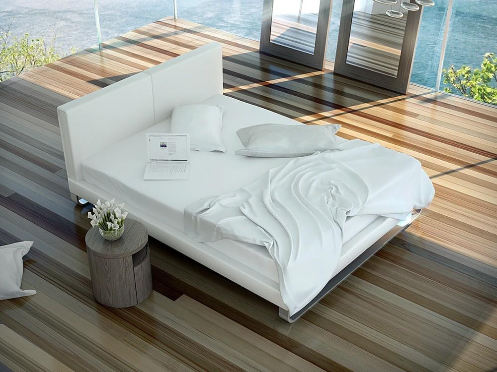 Estructura de cama tapizada en polipiel o textil 7016 de Ángel Cerdá en Mobel 6000