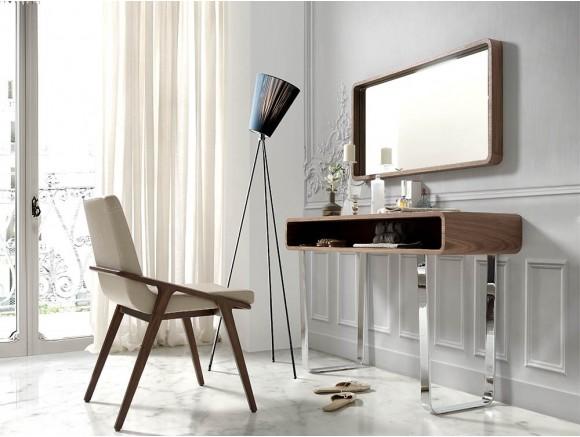 Espejo de diseño rectangular chapado en nogal natural 3035 de Ángel Cerdá en Mobel 6000