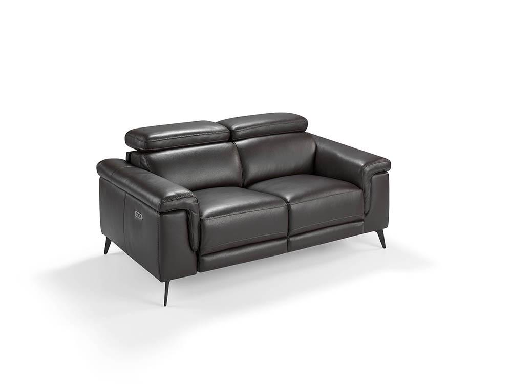 Sofá con mecanismo relax tapizado en piel de 2 plazas 6050 Harmony de Ángel Cerdá en Mobel 6000