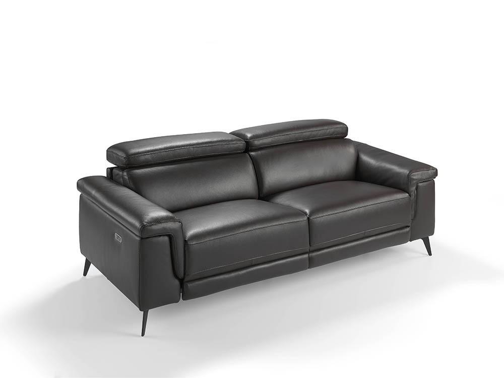 Sofá con mecanismo relax tapizado en piel de 3 plazas 6051 Harmony de Ángel Cerdá en Mobel 6000