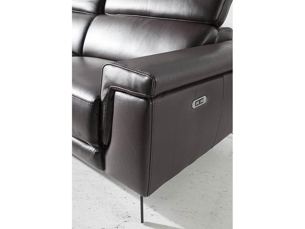 Sofá con mecanismo relax tapizado en piel de 2 o 3 plazas 6050/6051 Harmony de Ángel Cerdá en Mobel 6000