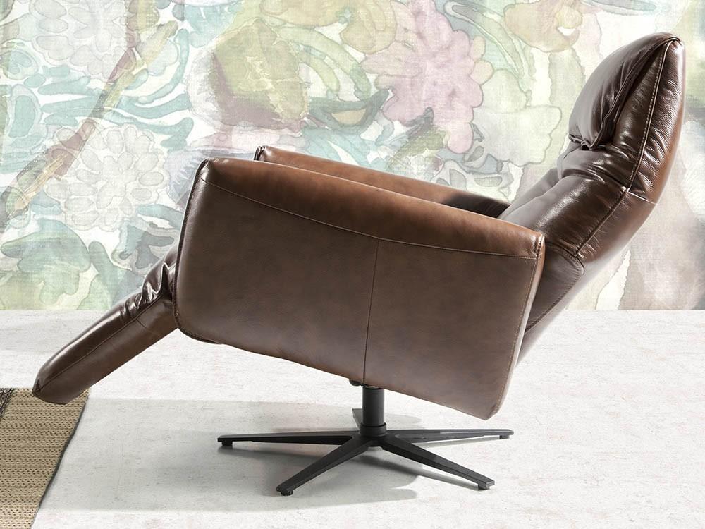 Sillón giratorio tapizado en piel con mecanismo relax 5056 Ángel Cerdá