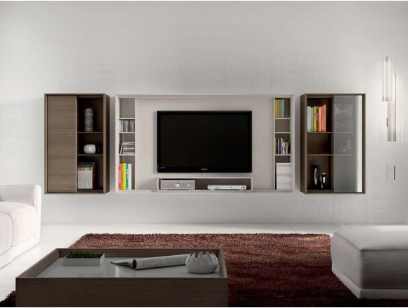 Composición para salón con mueble suspendido Next