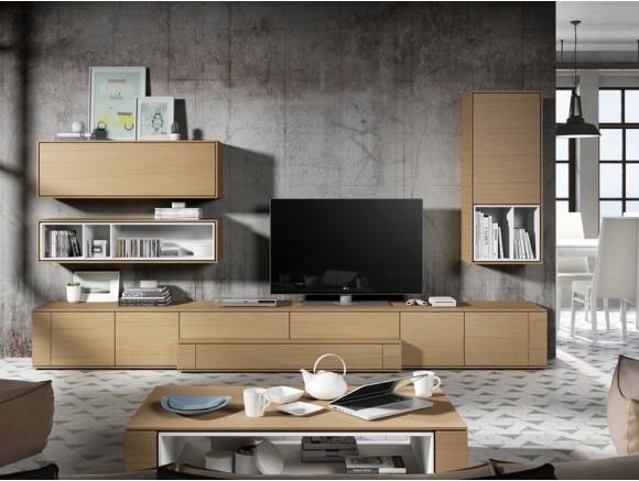 Mueble para salón en acabado roble New Nagare