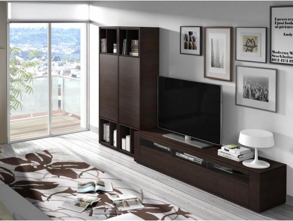 Composición para salón con aparador alto New Nagare