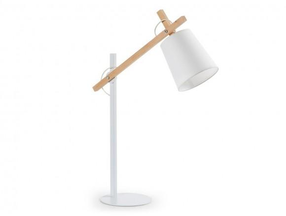 Lámpara de sobremesa de madera y metal articulada Jovik