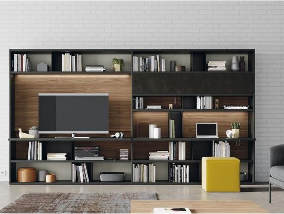 VIVE Mueble de salón con estantería Line 101