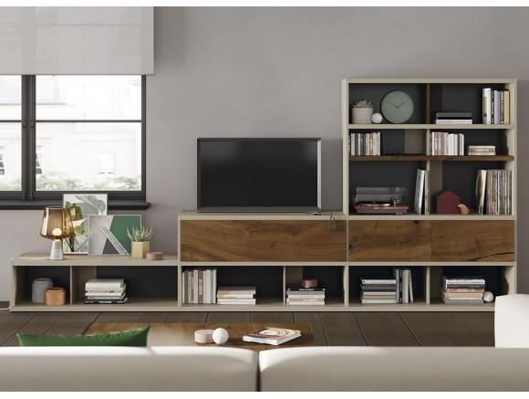 VIVE Mueble para salón en taiga y vintage Line 115