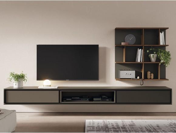 Mueble para televisión suspendido con estante colgado New Book