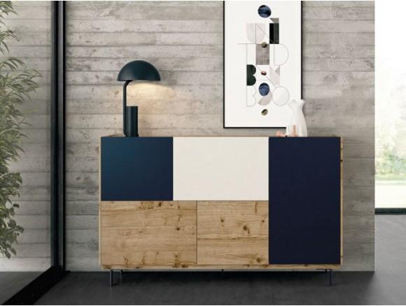 VIVE Mueble Recibidor en roble nudoso y puertas combinadas One Plus R05
