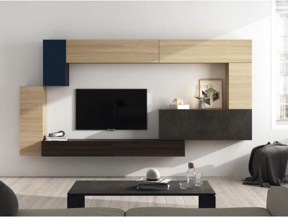 Salón moderno acabado roble On Plus Vive  - 1