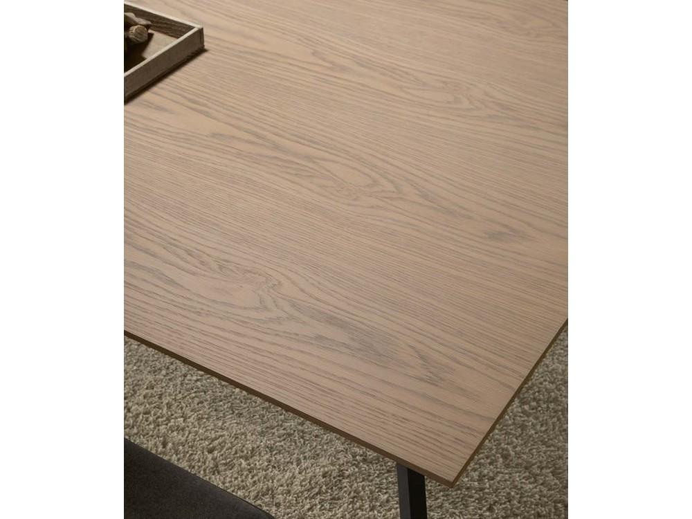 Mesa de comedor con estructura de metal lacado y sobre en chapa de madera o lacado Kone Time Loyra - 6
