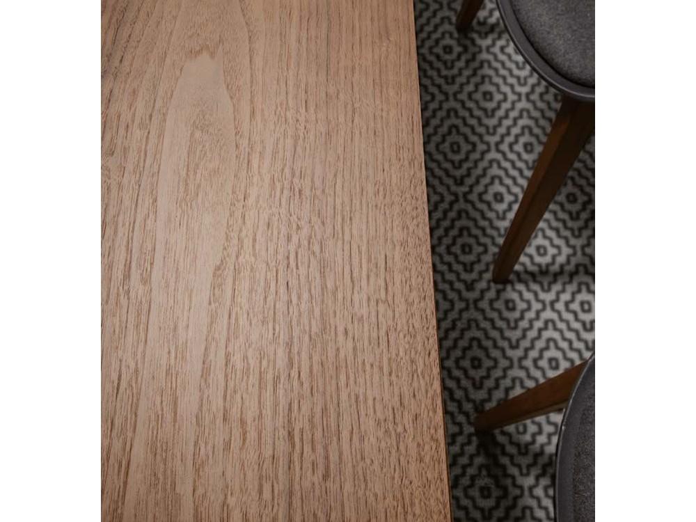 Mesa de comedor con estructura de metal lacado y sobre en chapa de madera o lacado Kone Time Loyra - 5