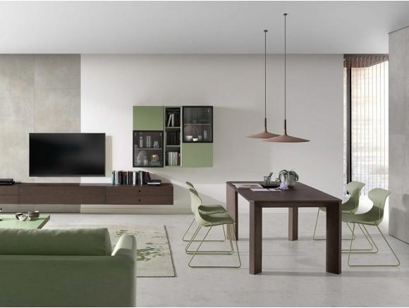 Mesa de comedor extensible Rho en chapa de madera o lacada Time Loyra - 1