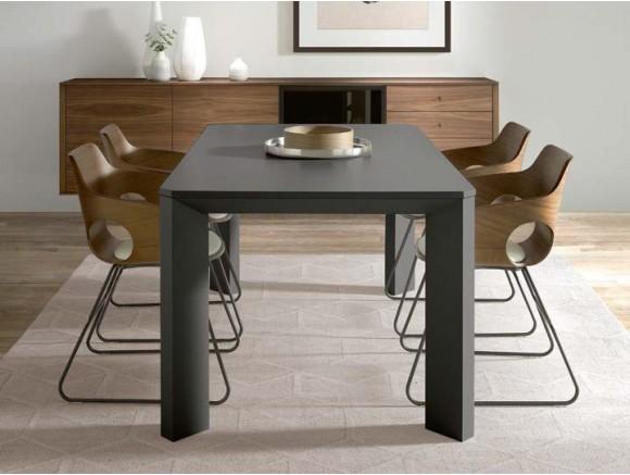 Silla Ole con asiento chapado en madera de roble o nogal y pies en metal o madera Time