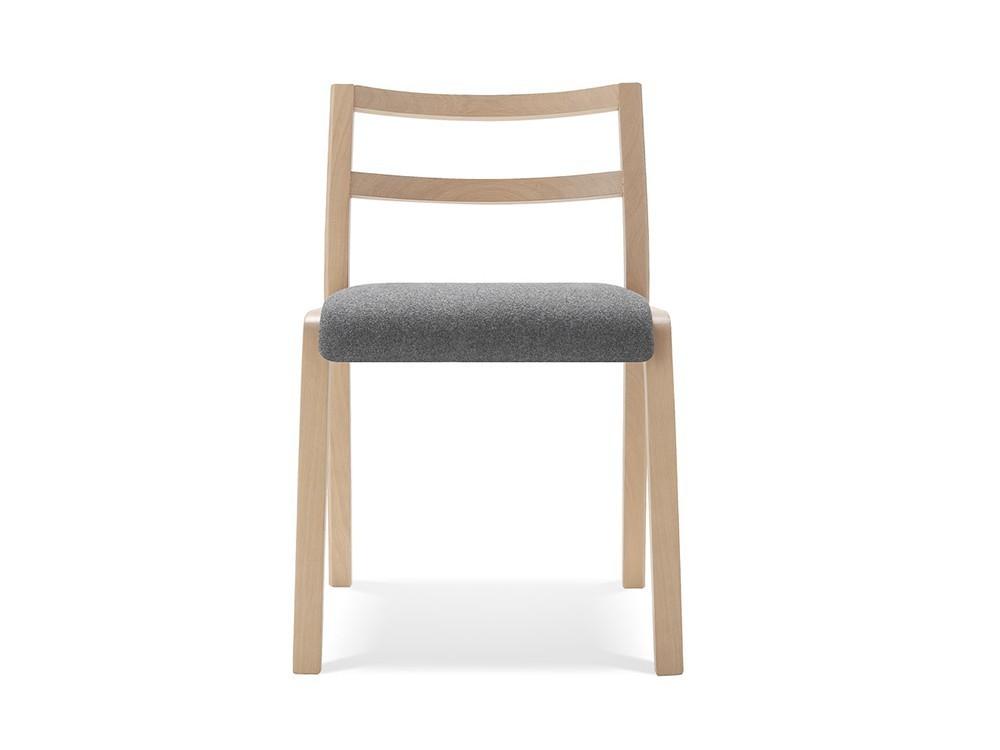 Silla Roa de madera con asiento tapizado en textil Time Loyra - 2
