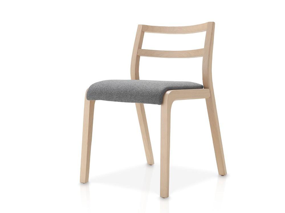 Silla Roa de madera con asiento tapizado en textil Time Loyra - 3