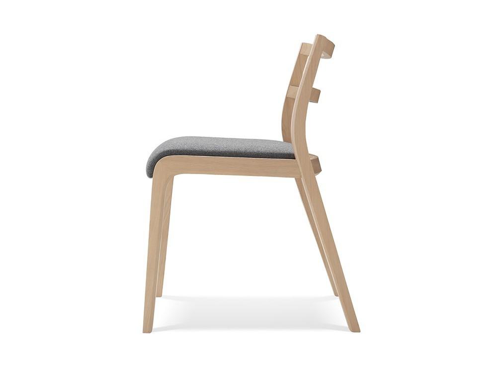 Silla Roa de madera con asiento tapizado en textil Time Loyra - 4