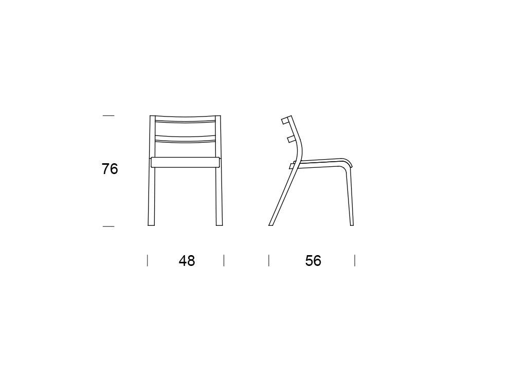 Silla Roa de madera con asiento tapizado en textil Time Loyra - 6
