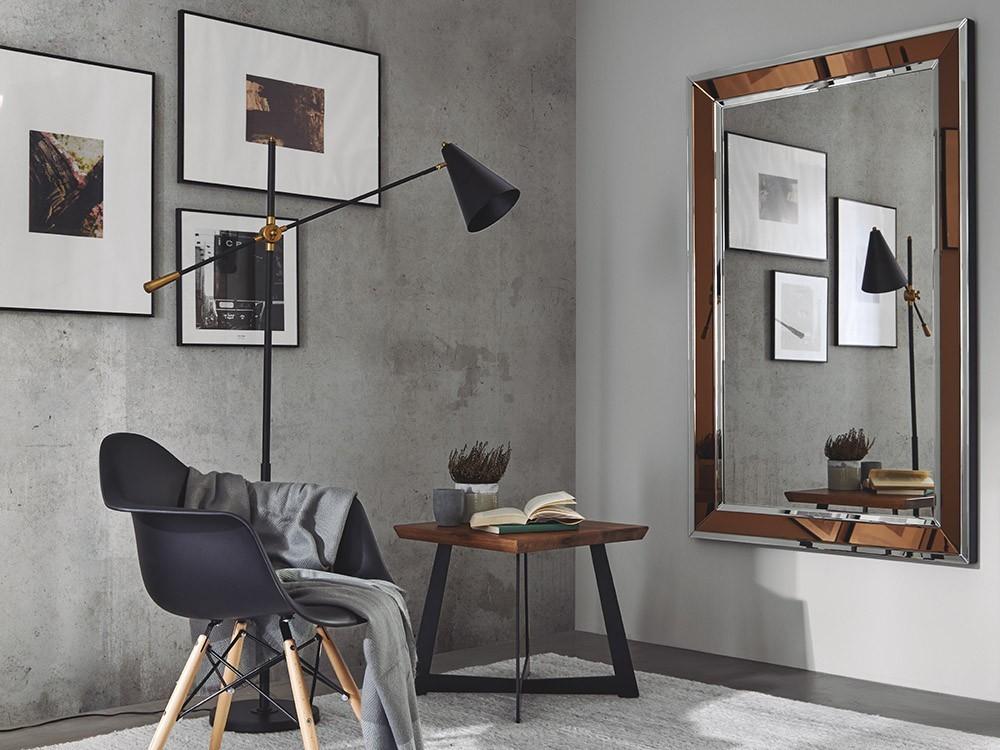 Espejo rectangular con marco cobre Aitor