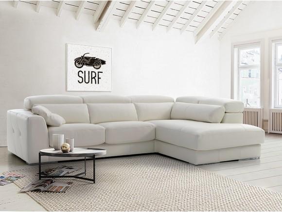 Sofá rinconera con arcón y asientos deslizantes Luthien