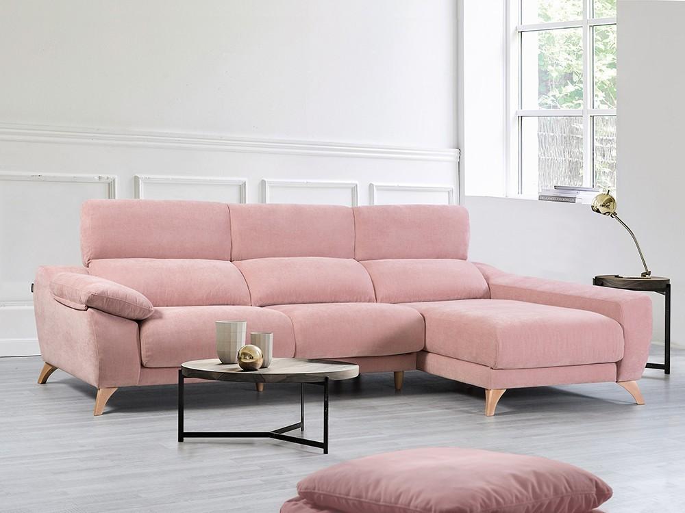 Sofá chaiselongue con arcón y asientos deslizantes Palma