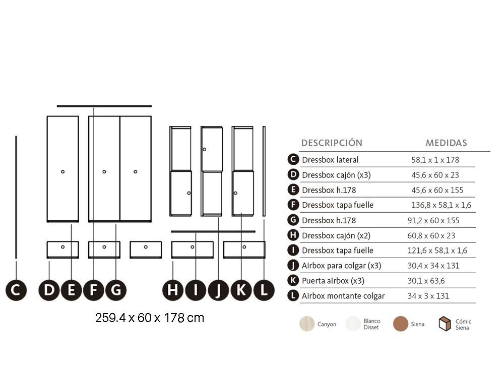 Armario modular Dressbox