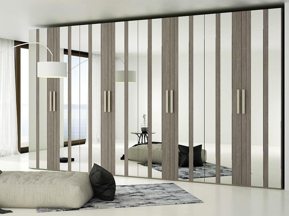 LAGRAMA Armario con puertas abatibles AV combinada con espejo