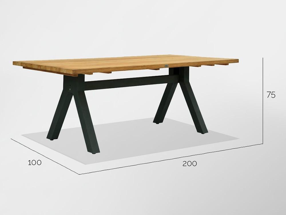 Mesa de comedor en madera de teca Alaska