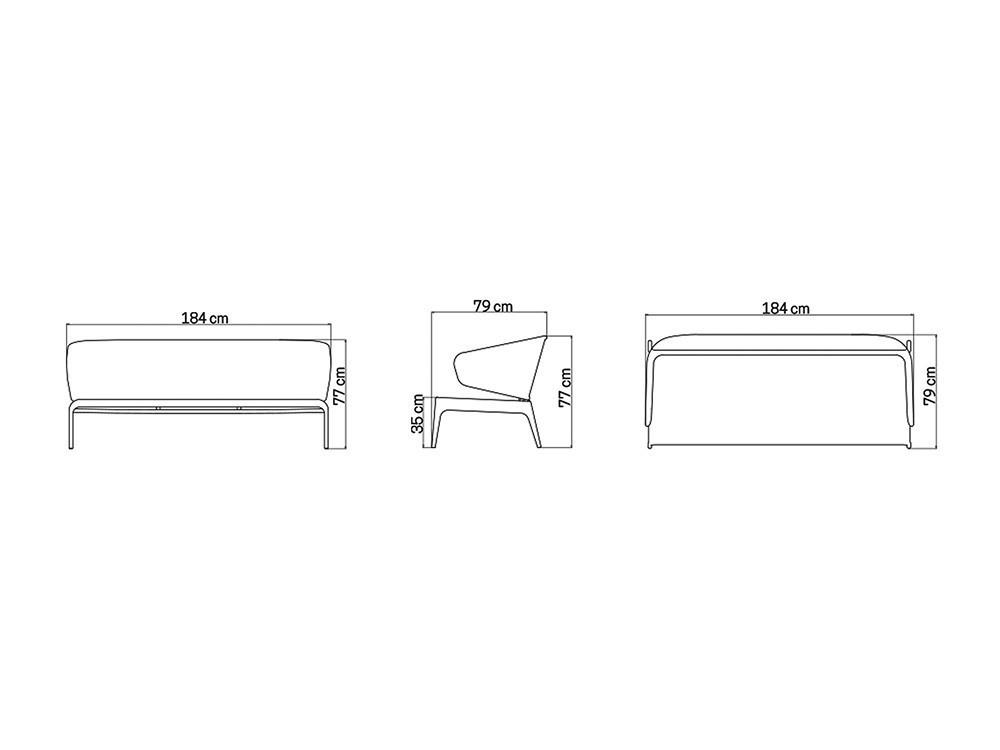 Sillón y Sofá Journey Skyline Design - 28