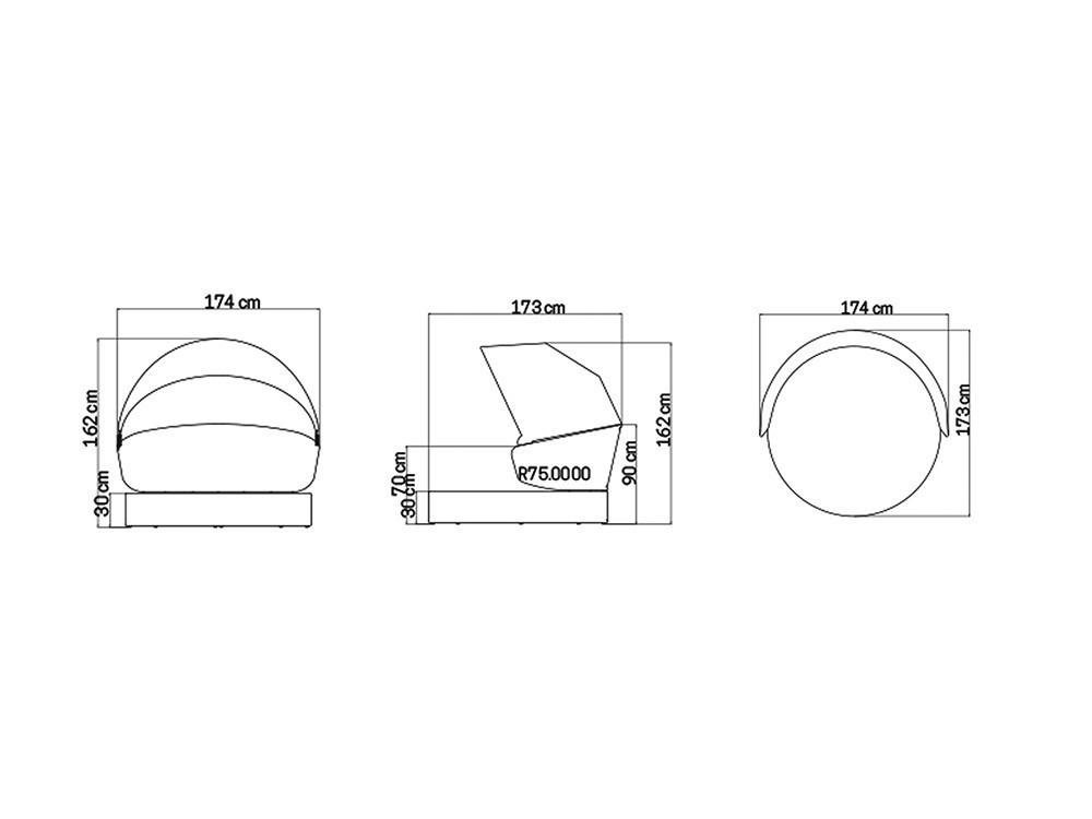 Cama de jardín Journey Skyline Design - 13